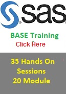 SAS Base Certification Hands On Training